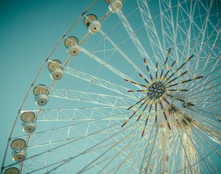 fairground: Vintage Retro Style Detail Of A Fairground Ferris Wheel Stock Photo