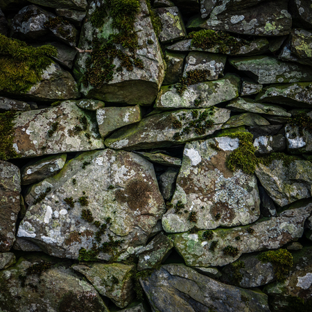 dry stone: Background Texture Detail Of An Old Dry Stone Wall In Scotland