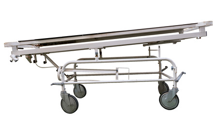 hospital stretcher: Isolated Vintage Hospital Stretcher On White Background