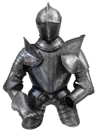 アーマー (鎧) をヘルメットの中世ヨーロッパのスーツを分離 写真素材