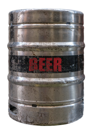 real ale: Isolated Grungy Metal Beer Keg Or Cask Or Barrel Stock Photo