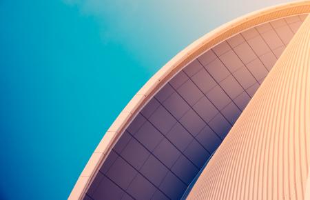 Résumé Détail de Sleek moderne architecture contemporaine Avec Espace texte Banque d'images - 70518621