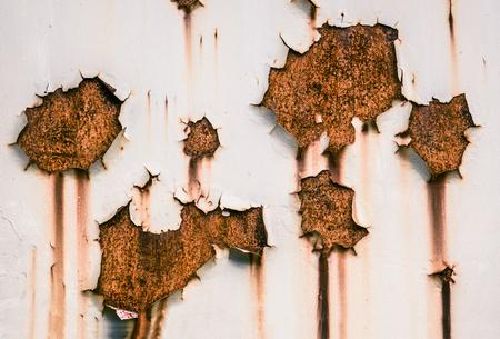 페인트와 녹을 필링의 지저분한 배경 질감 스톡 콘텐츠