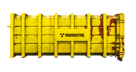 Yellow Radioactive Nuclear Containment Flask From A Nuclear Power Station