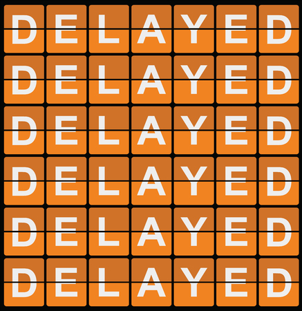 Illustration Of Retro Sign Board With Delayed Delayed Delayed Delayed Stock Photo