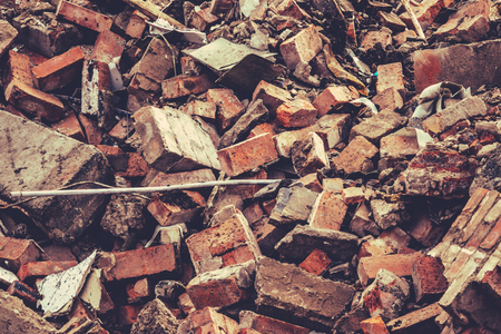 Abstract Background Texture Of Building Demolition Rubble