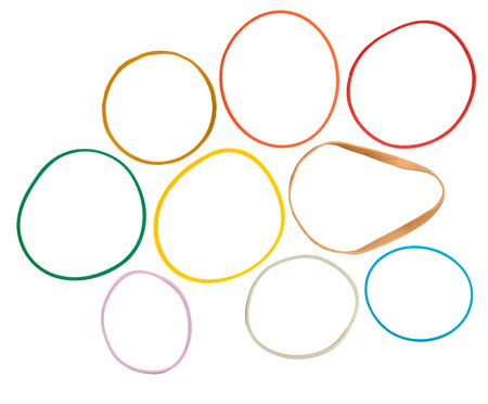 A Collection Of Isolated Coloured Rubber Bands Stock Photo