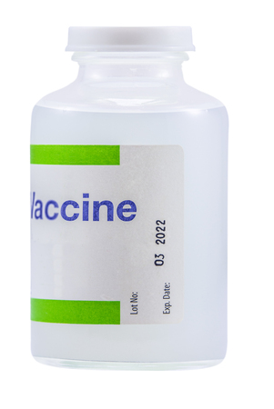 Isolated Vaccine (Vaccination) Medicine Bottle On A White Background