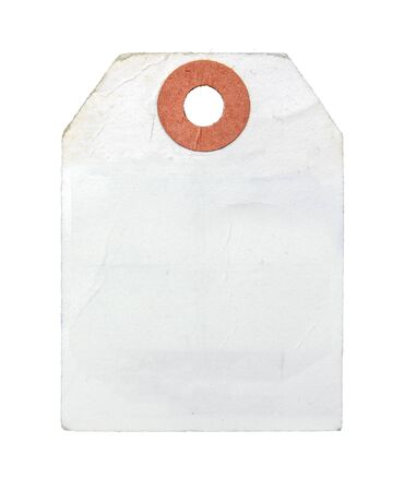 Vintage Retro White Paper Label Or Luggage Tag On A White Background