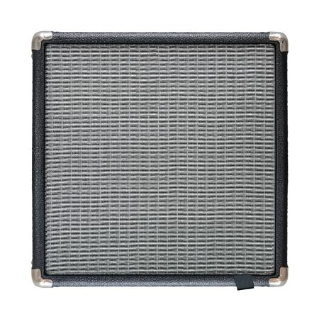 An Isolated Electric Guitar Amplifier Or Speaker On A White Background 版權商用圖片