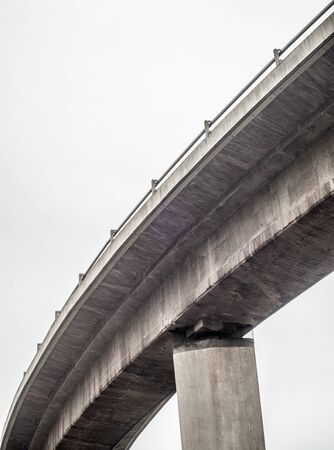 Abstract Urban Concrete Highway Overpass With Copy Space