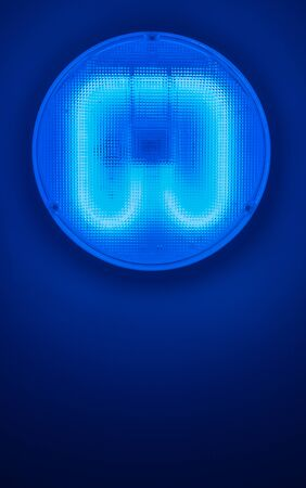 A Blue Ultraviolet Germicidal Ceiling Light In A Hospital With Copy Space Stock Photo