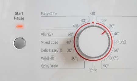 A Washing Machine Set To An Environmentally Friendly 30 Degrees Stock Photo