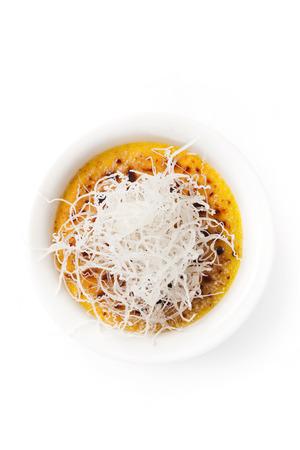 crema: crema catalana recipe on a white background.