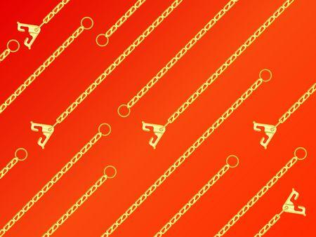 jeweller: �hainlet on a orange background