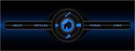 Black web page menu Stock Photo - 2494548