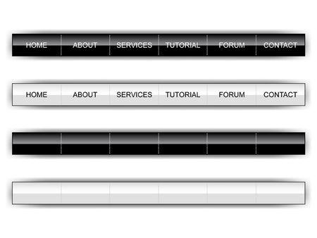 lustre: Black and white web page menu