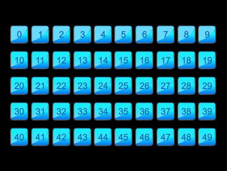 numeration: Blue numeration signs Stock Photo
