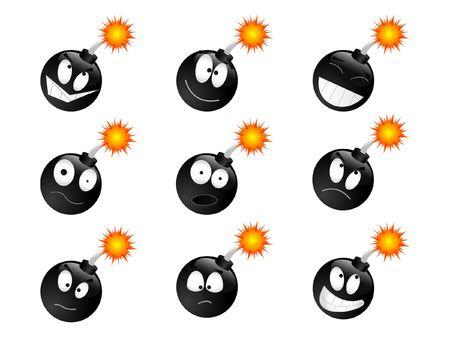 Set of smiling bombs Stock Photo - 2494734