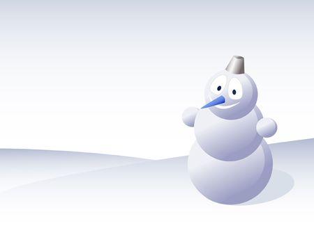 snowbank: White snowman