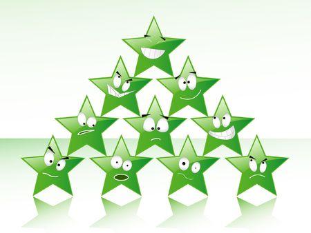 Green smile stars photo