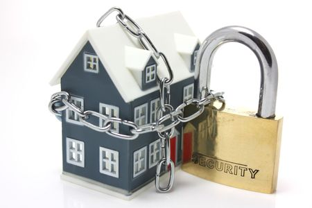 robbers: House Security Stock Photo