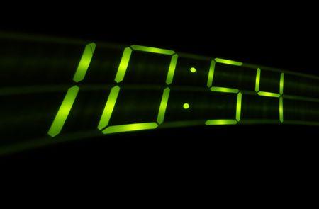 swish: Digital time swish on black background