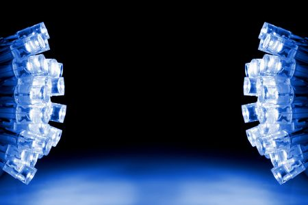 light emitting: Cool blue LED lights both sides of the image