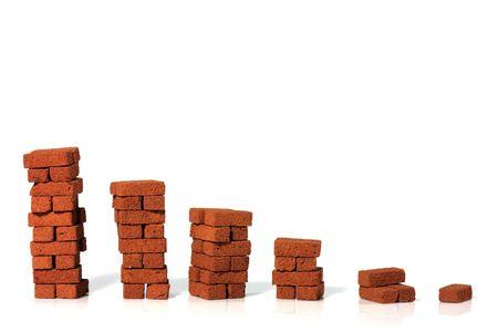 taller: Stacks of bricks Stock Photo