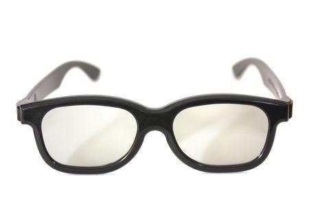 black rimmed: Black rimmed glasses isolated on white