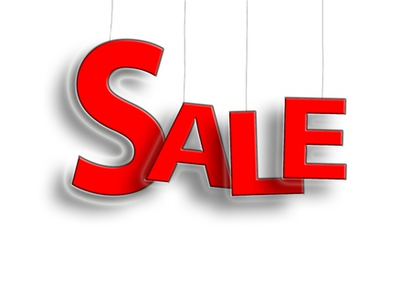 Sale sign hanging