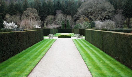 Formal englischen Garten Standard-Bild - 13193664