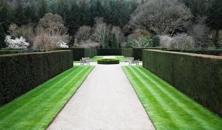 Formal English garden 免版税图像