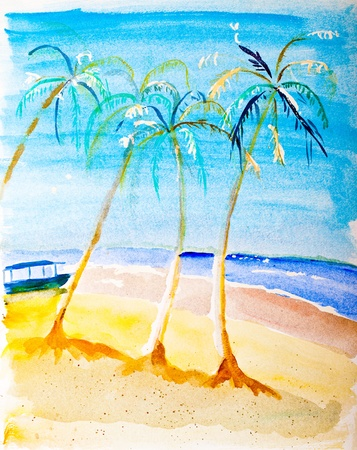 Beach paradise painting by Kay Gale photo
