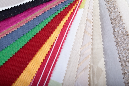 Material swatches in fan shape Stock Photo