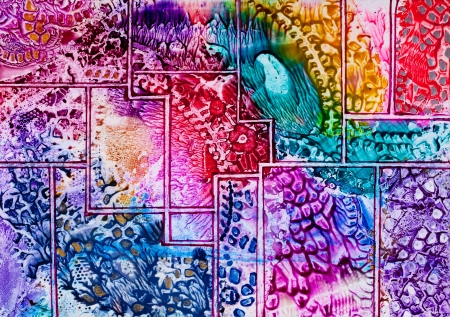 dreamscape: Tapestry art pattern in wax Stock Photo