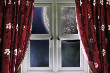 Moon through a window photo