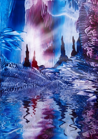 cartoon land: Cavern of Castles painting in wax