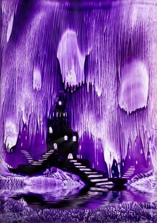 encaustic: The Kings purple castle painting in wax