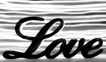 frendship: Love sign with black and white stripes behind