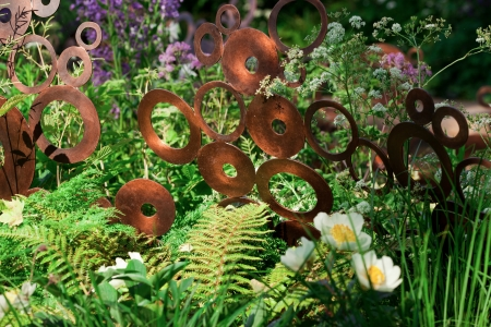 LONDON - MAY 2012 - RHS CHELSEA FLOWER SHOW: The Chelsea Flower Show has been running since 1862. The M&G Garden is a gold award winning show garden of 2012.