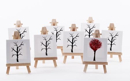 originality: Artwork showing originality concept on a white background