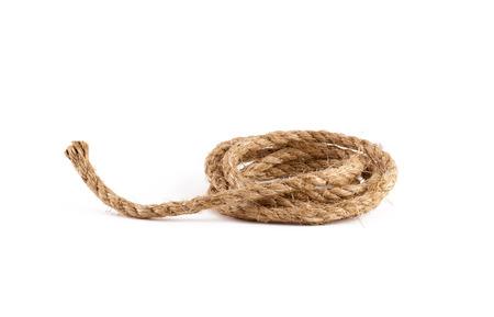 bobina: Bobina de la cuerda aislado en el fondo blanco Foto de archivo
