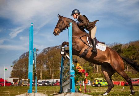 BURNHAM MARKET, NORFOLKENGLAND - APRIL 13th 2017: Burnham Market International Horse Trials 2017 show jumping