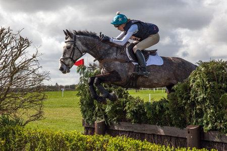 BURNHAM MARKET, NORFOLKENGLAND - APRIL 13th 2017: Burnham Market International Horse Trials 2017 cross country jumps