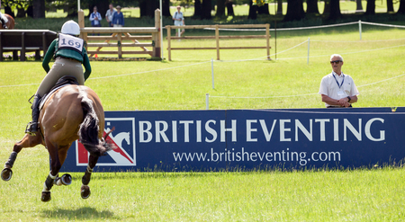 HOUGHTON, NORFOLKENGLAND - May 27th 2017: Houghton International Horse Trials 2017 Aoife Clark riding Colorfast II. Including cross country, eventing, show jumping and dressage at the top level