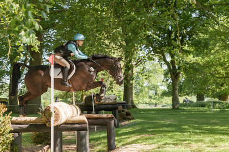 HOUGHTON, NORFOLKENGLAND - May 27th 2017: Houghton International Horse Trials 2017 Chloe Lynn riding Calzini. Including cross country, eventing, show jumping and dressage at the top level Editorial