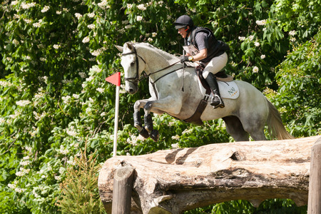 HOUGHTON, NORFOLKENGLAND - May 27th 2017: Houghton International Horse Trials 2017 Rosie Thomas riding Heat Wave. Including cross country, eventing, show jumping and dressage at the top level