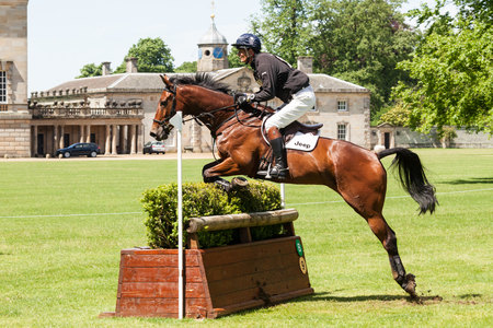 HOUGHTON, NORFOLKENGLAND - May 27th 2017: Houghton International Horse Trials 2017 William Fox-Pitt riding Yes I Can. Including cross country, eventing, show jumping and dressage at the top level