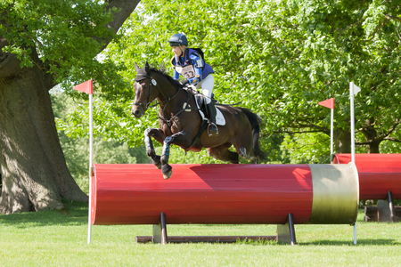 HOUGHTON, NORFOLKENGLAND - May 27th 2017: Houghton International Horse Trials 2017 Zoe Wilkinson riding Craignure. Including cross country, eventing, show jumping and dressage at the top level